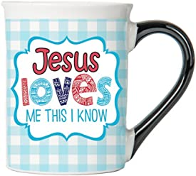 Jesus Loves Me This I Know Mug , Inspirational Coffee Cup, Inspirational Mug, Ceramic Mug, Custom Inspirational Gifts By Tumbleweed