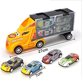 Declare Toy Truck Transport Car Carrier with 4 Toy Cars