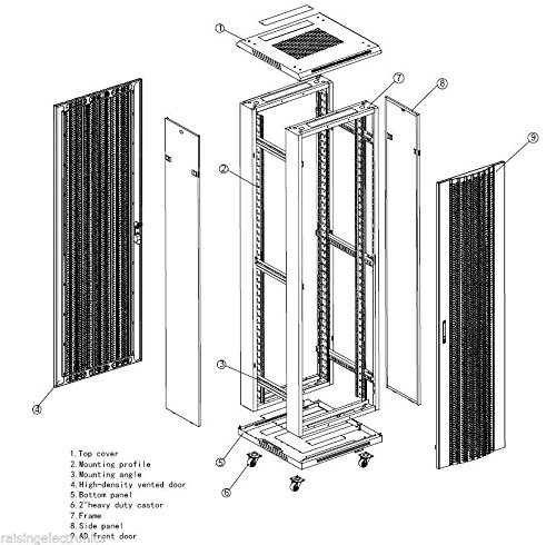 42U Rack Mount Internet/Network Server Cabinet 1000MM (39.5'') Deep by Raising Electronics (Image #9)