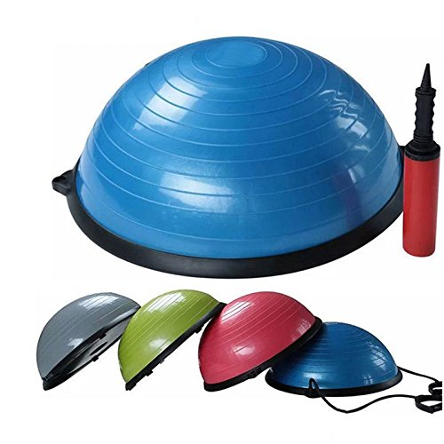 Fitness Balance Ball Trainer Anti-Burst BOSU Ball for Yoga Pilates Random Color by YTQ