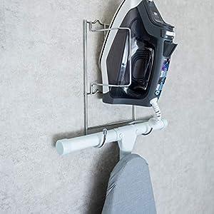 Better Houseware  Iron and Ironing Board Holder, Chrome, 1425