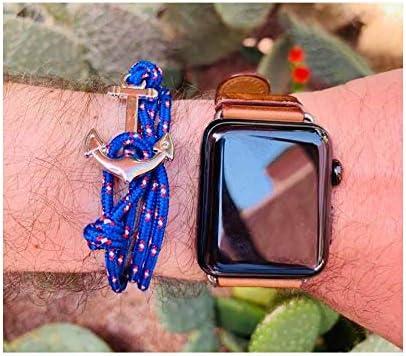 ANCRE M/ÉTAL ARGENT/ÉE Bracelet Homme//Femme en Acier inoxydable Bracelet R/églable BRACELET NAUTIQUE BRACELET MARINE CORDE BLEUE en nylon tress/é BRACELET SURF BRACELET HOMME CORDE BLEUE