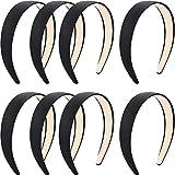 Best Simplicity Headbands - Blulu 8 Pieces Satin Headbands Anti-slip Ribbon Black Review