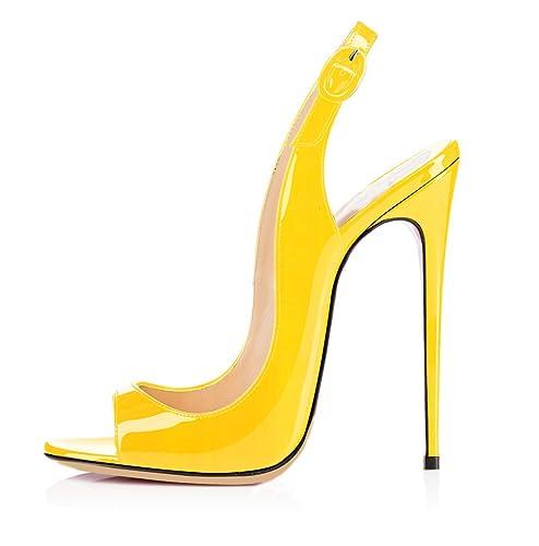 Garantía de calidad 100% venta directa de fábrica 50-70% de descuento ELASHE - Zapatos de tacón - 12 CM Sandalias de Vestir - Tira de Tobillo  Sandalias