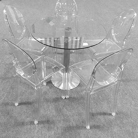 Lot de 4 pour Salon Hotel Bureau KAMS Fauteuil Crystal Star Design Contemporain Polycarbonate Transparent