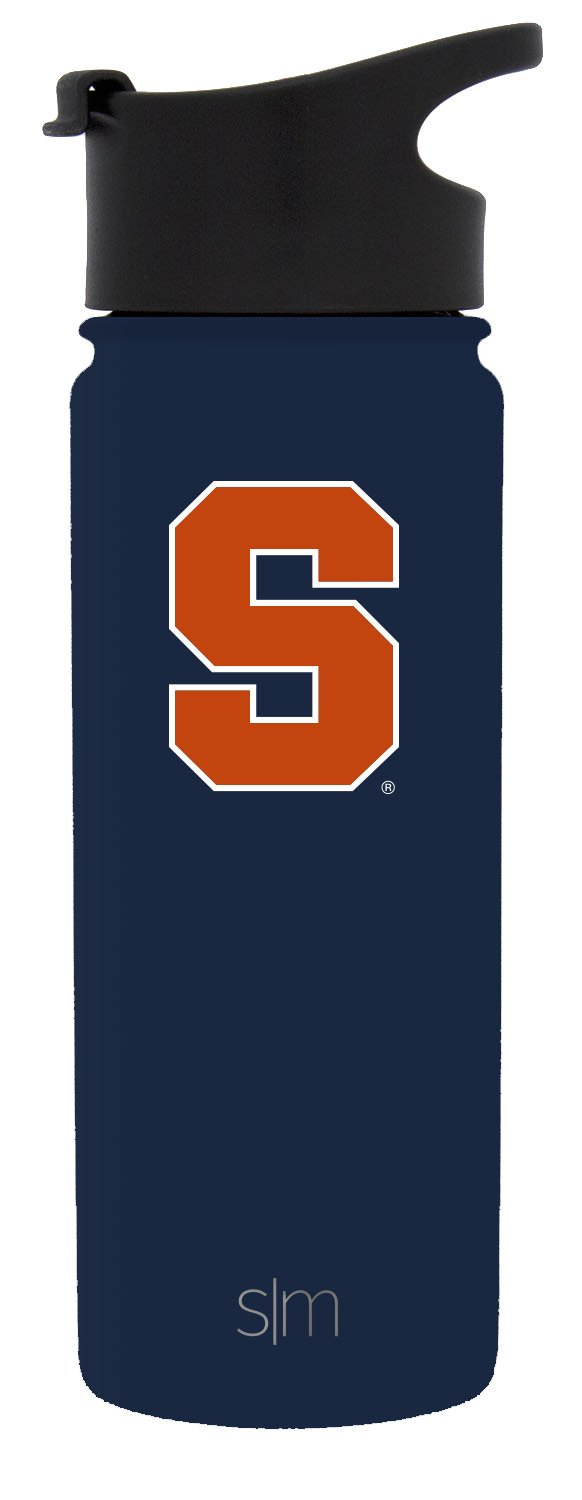 Simple Modern 18oz Summit Water Bottle - Syracuse Orange Vacuum Insulated 18/8 Stainless Steel Travel Mug - Syracuse