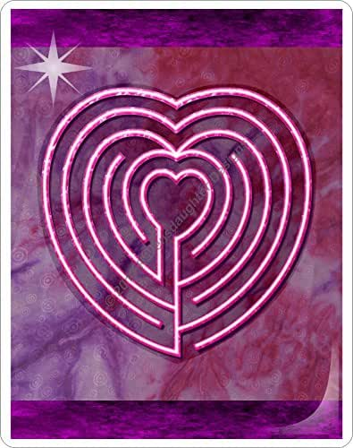 Heart Labyrinth Laminated Card: Ancient Mindfulness for Stress, Anxiety and Attention Management