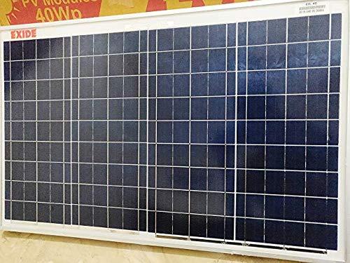 c61e7c47a Exide - 40 watt Solar Panel  Amazon.in  Garden   Outdoors