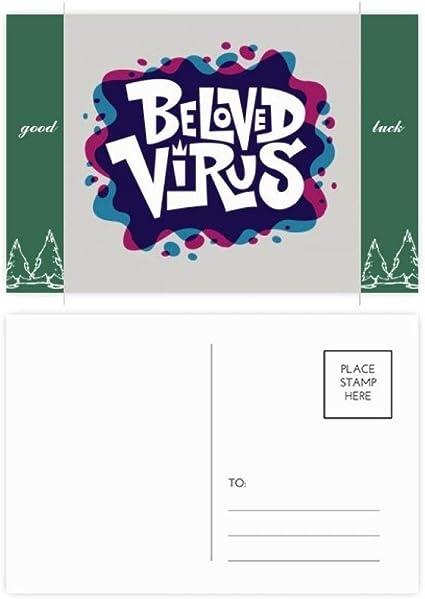 Graffiti Street - Juego de 20 tarjetas postales, diseño de virus, color azul y rojo: Amazon.es: Oficina y papelería