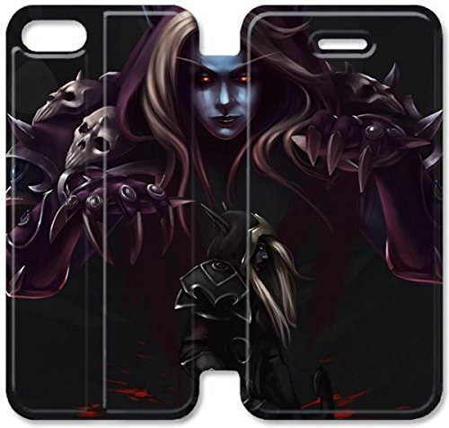 Coque iPhone 6 6s 4,7 pouces Coque Cuir, Klreng Walatina® 6 6s PU Cuir de portefeuille Coque Design By World Of Warcraft Armure Art Z7D0Zw