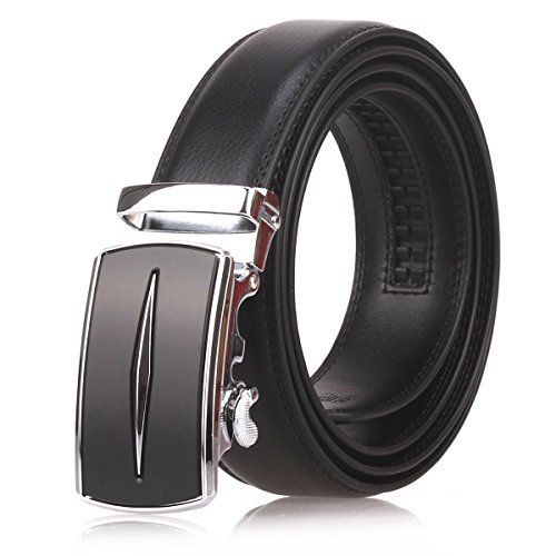 Automatic Leather Belts Black Brown D03 04