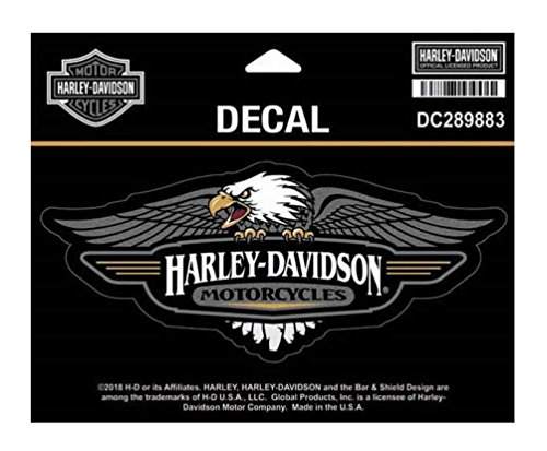 (Harley-Davidson Vintage Eagle Logo Decal, MD Size - 6 x 2.5 inches DC289883)