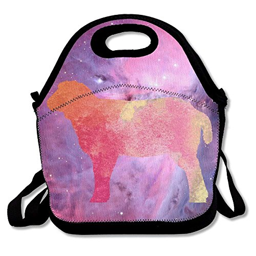 Sheep Watercolor Animal Handy Portable Zipper Lunch Box Lunch Tote Lunch Tote Bags