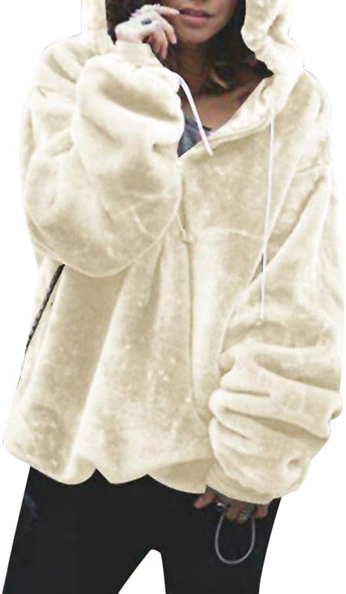 Kinder Mädchen Kapuzenpullover Hoodie Sweatjack Wintermantel Warm Fleece Jacke