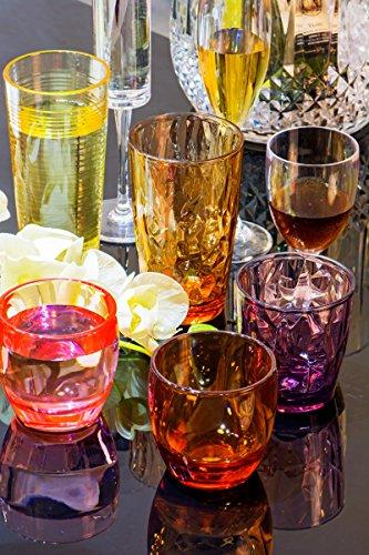 Drinking Glasses Set Acrylic Glassware For Kids 11oz