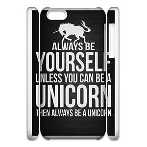 Durable Funda 3D iphone 6 4,7 3D caja del teléfono celular blanco Hufwl siempre que quieras. Si puedes ser un unicornio, entonces siempre será un unicornio plástico cubierta