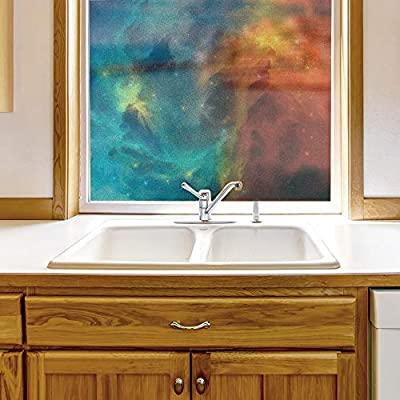 That's 100% USA Made, Elegant Expertise, Window Film for Privacy Galaxy Large Decorative Glass Sticker for Office Home Meeting Room Bathroom Self Adhesive Anti UV Removable Flims