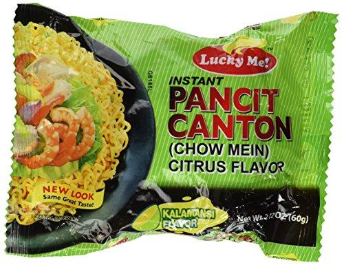 Pancit Canton Noodles - Pancit Canton Citrus Flavor (Kalamansi) Chow Mein - 6 x 2.12 oz by Lucky Me