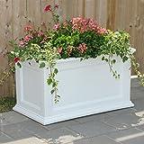 Mayne Fairfield 5826W Patio Planter, 20-Inch by 36-Inch, White