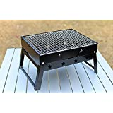 ITTA Portable Tabletop Notebook BBQ Grill, Outdoor Heavy-Duty Folding Charcoal Picnic BBQGrill.