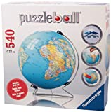 Ravensburger The Earth 540 Piece 3D Jigsaw Puzzle Ball for Kids and Adults - Easy Click Technology Means Pieces Fit Together Perfectly
