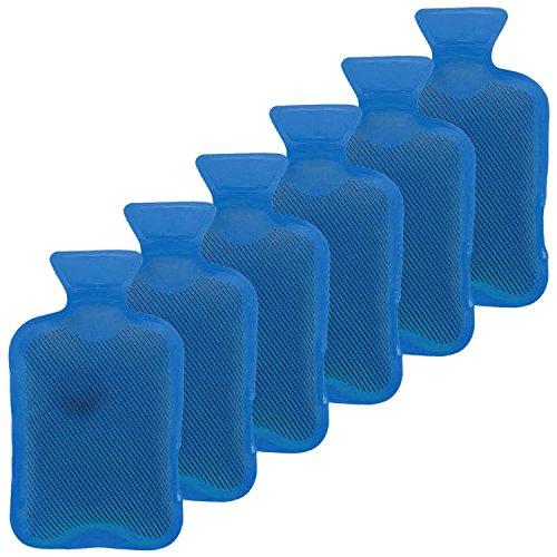 Taschenwärmer 6er Set Handwärmer Heizpad Firebag - Wärmflaschen in blau