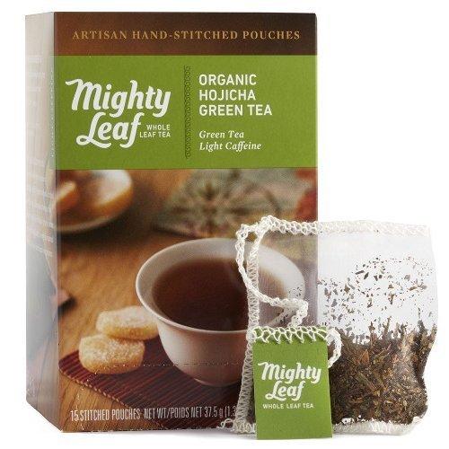 Hojicha Green Tea (Mighty Leaf Green Tea, Organic Hojicha, 15 Pouches)