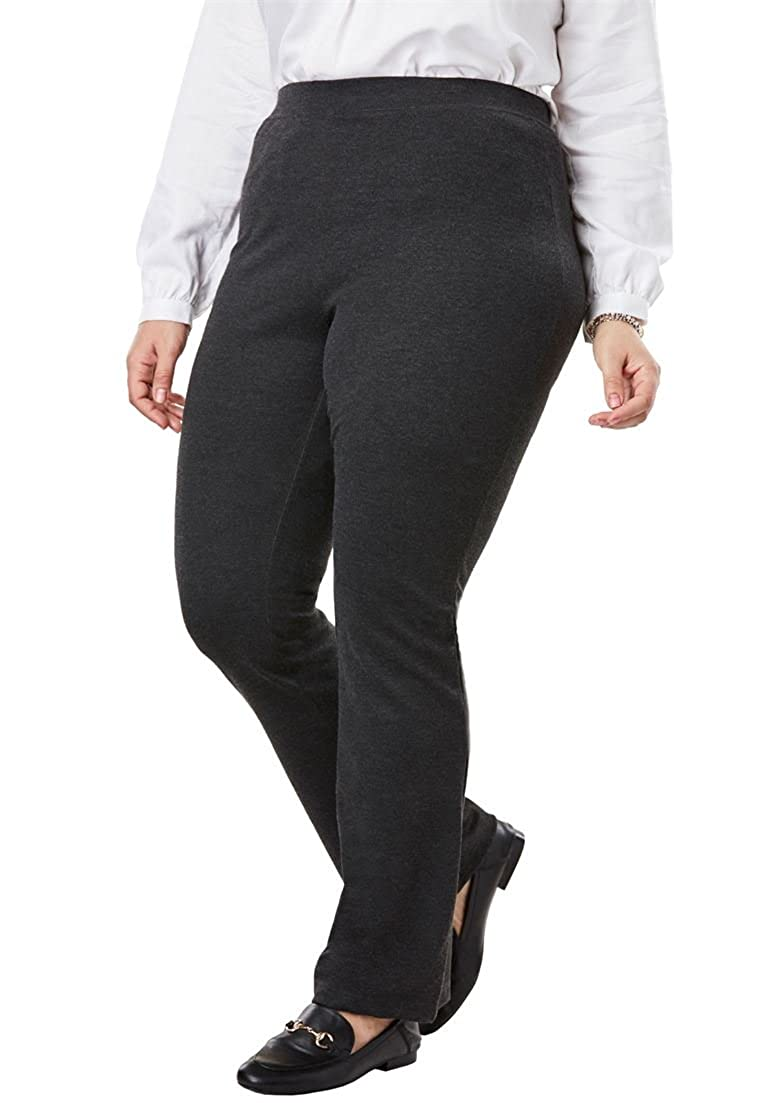 Woman Within Plus Size Petite Bootcut Ponte Stretch Knit Pant