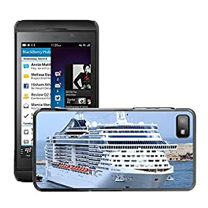 Hot Style Cell Phone PC Hard Case Cover // M00169720 Cruise Ship Cruise Ship Traffic // BlackBerry Z10