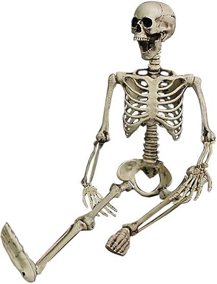 Halloween Human Animal Skeleton Crazy Bones Posable Party Props Decoration New