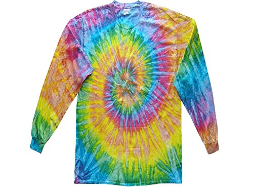- Gildan Tie Dye T-Shirts Multicolor Light Rainbow Long Sleeve Kids & Adult Size Small