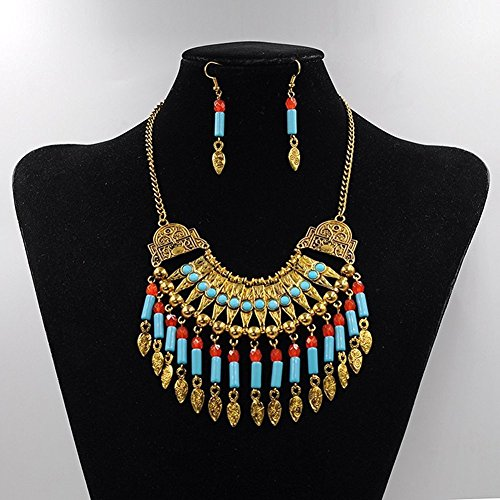 truecharms Statement Necklace Multilayer Earrings