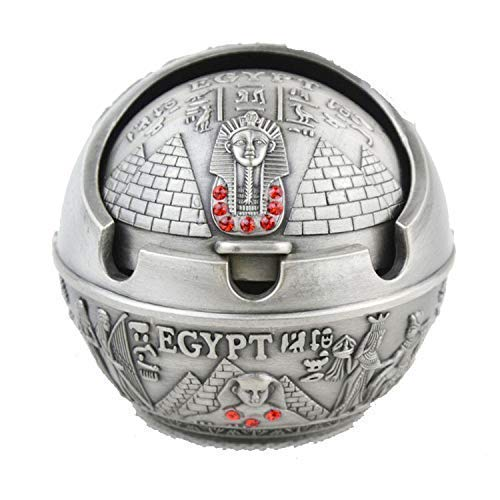 Ashtray?Ancient Egyptian Style Pyramid of Pharaoh Pattern Spherical Pattern Ashtray Perfect Father