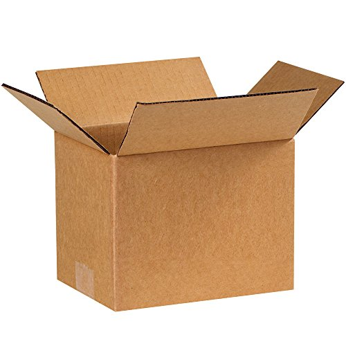 "Partners Brand P866 Corrugated Boxes, 8""L x 6""W x 6""H, Kraft (Pack of 25)"