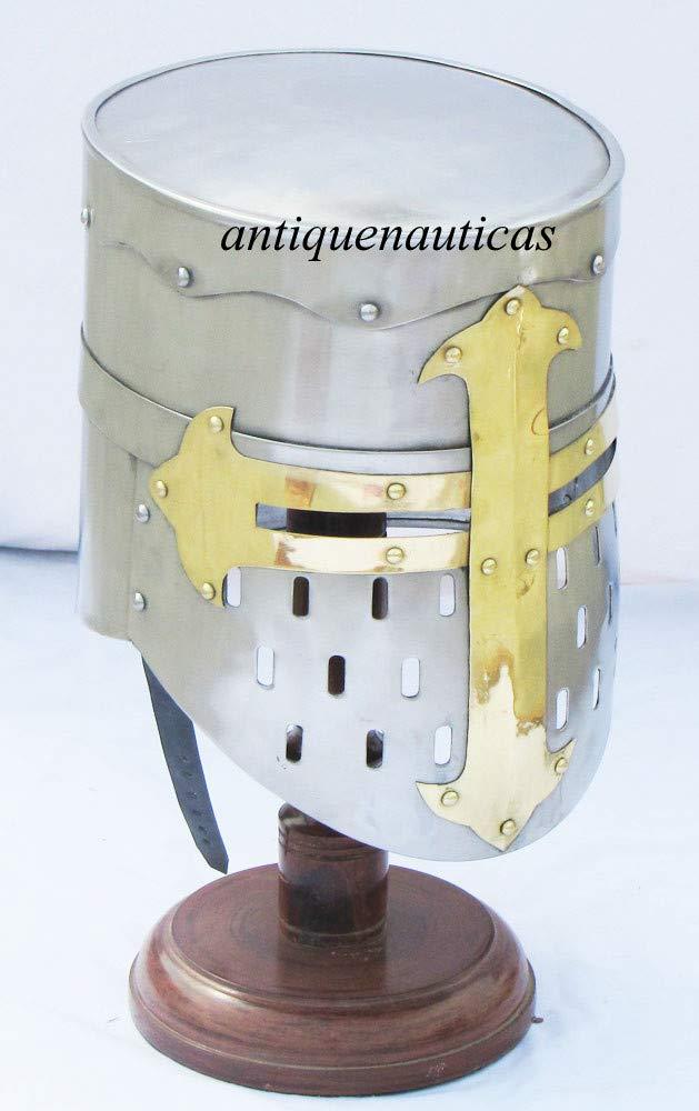 Reducción de precio Shivah Shakti Enterprises Armor Casco Medieval Griego Knight con Forro de Piel