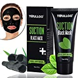 Facial Mask Oily Skin - Black Mask Blackhead Remover, Facial Masks Peel Off, Suction Cleaner Black Mask Tearing Resist Oily Skin Strawberry Nose Purifying Deep Cleansing, with 2 free nose masks