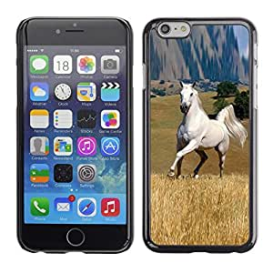Eason Shop / Premium SLIM PC / Aliminium Casa Carcasa Funda Case Bandera Cover - Mustang Horse Estepa Gran Salvaje Outback Libertad - For iPhone 6
