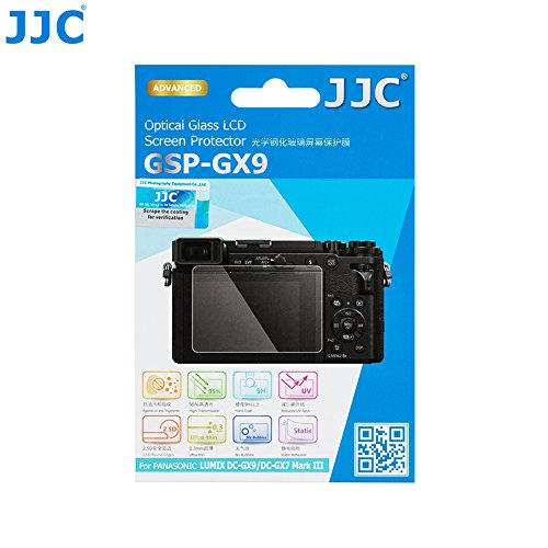 JJC Anti-Scratch Optical Tempered Glass Screen Protector LCD Cover Shield for Panasonic Lumix GX9 (DC-GX9MK/DC-GX9MS)/DC-GX7 Mark III Camera, Ultra-Thin 0.3mm/9H Hardness/2.5D Round Edges