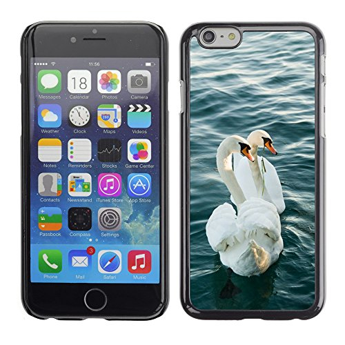 Just Phone Cases Hard plastica indietro Case Custodie Cover pelle protettiva Per // M00128120 Swan Lake Love couple Garda eau // Apple iPhone 6 PLUS 5.5""
