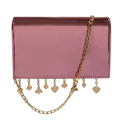 FINIFLY 2018 new Laser PU Leather Chain Women Shoulder Handbags Tassels Party Messenger Bags