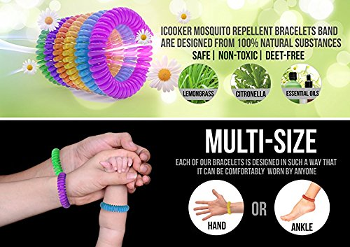 12 Pack Mosquito Repellent Bracelet Band - [320Hrs of Protection] Pest Control Insect Bug Repeller - Natural Indoor/Outdoor Insects - Best Products with NO Spray for Men, Women, Kids, Children by iCooker (Image #7)