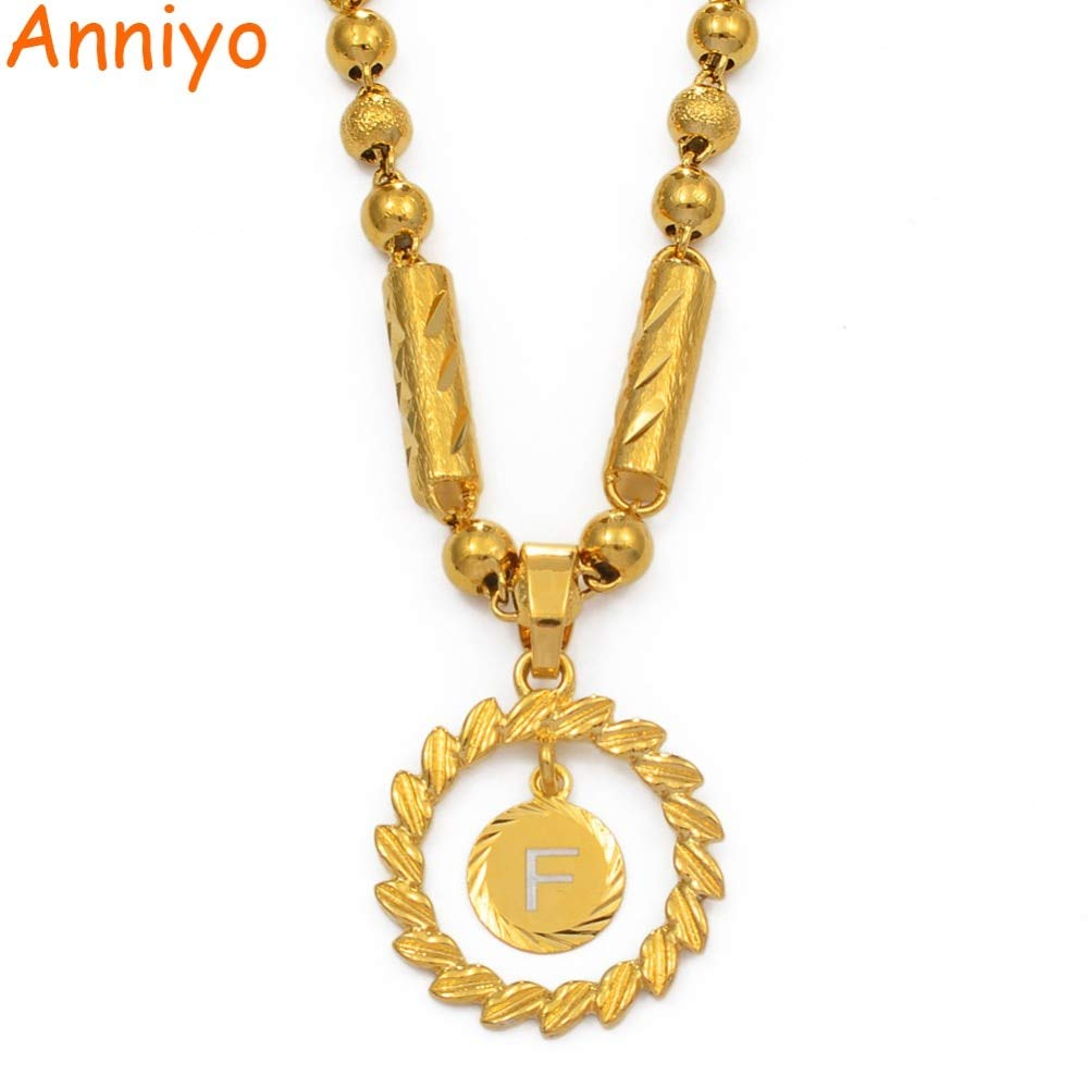 Choose Letter X 50cm By 6mm Beads Necklace for women Letters Pendant Heavy Necklaces Women Men English Initial Ball Marshall #169706p
