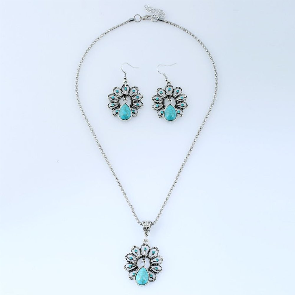 Doitsa Women Jewelry Set Romantic Owl Shape Blue Stone Necklace Earring Bracelets Jewelry Gift Retro Style