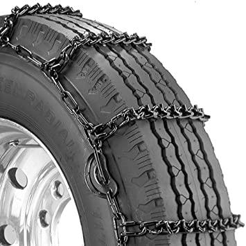 Security Chain Company QG2839CAM Quik Grip V-Bar Truck Single CAM RS Tire Traction Chain Set of 2