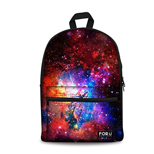 FOR U DESIGNS Stylish Galaxy Lightweight Durable Canvas Backpack for Men Women