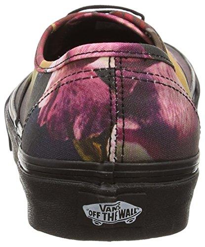 Noir Black Floral Vans Mixte Black Baskets Basses Authentic Adulte Ombre AzqAX0