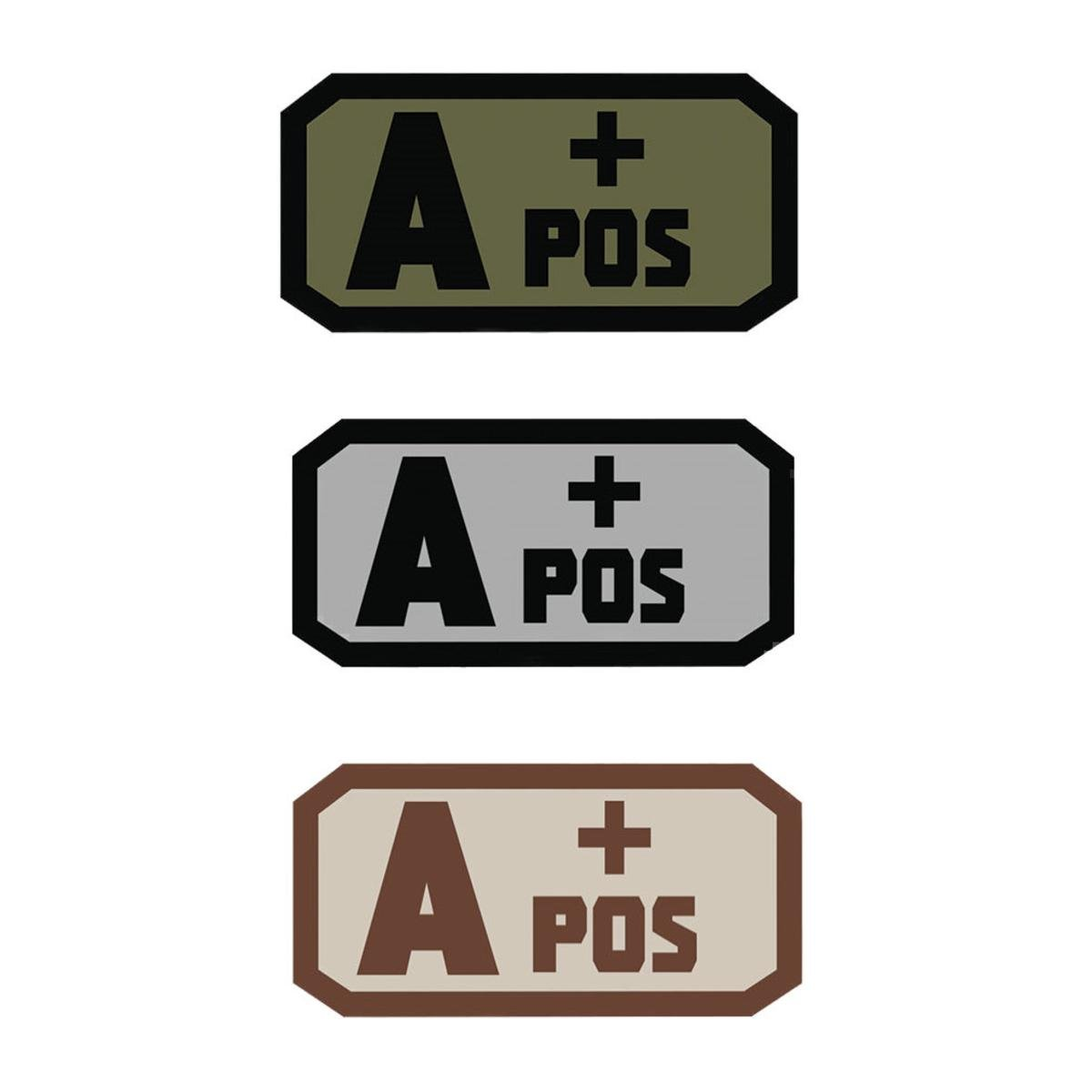 Fox Outdoor Products A Pos Medical and Morale Patches, Grey/Black 84P-050