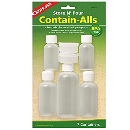 9fc3f6e330 Amazon.com: Coghlan's Store and Pour Contain-Alls Plastic Containers: Sports  & Outdoors