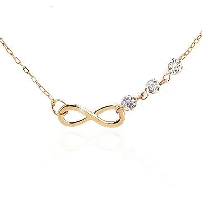 c000b452a C Infinity Symbol Necklace Gold Pendant Necklace Infinite Lover Necklace  for Girls for Women: Jewelry
