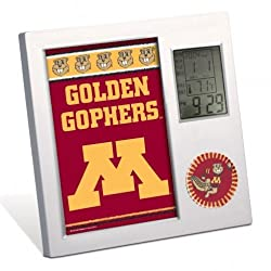 MINNESOTA, UNIVERSITY OF Golden Gophers WinCraft Thermometer Desk Clock